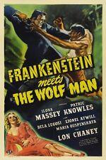 POSTER THE WOLF MAN VINTAGE HORROR FRANKENSTEIN BIG #4
