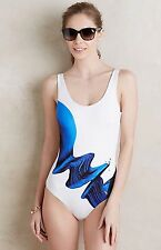 NEW Anthropologie Maillot Electric Current One Piece Swimsuit Size Small