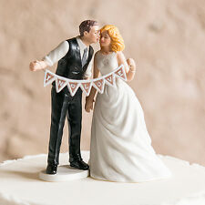 Shabby Chic Theme Romantic Couple Wedding Cake Topper