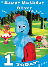 Iggle Piggle Personalised Birthday Card -Add your own name & age