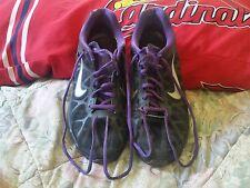 Nike Air Max 2011 Black/Metallic Cool Grey-Purple 429889-005 Men's SZ 9.5