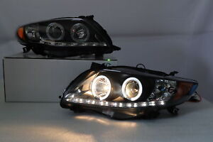 For 09-2010 Toyota Corolla LED DRL Projector Headlights Black Housing TRD Sport