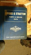 BRIGGS AND STRATTON PARTS AND SERVICE DATA MANUAL MS-3222 1975 1976 see pictures