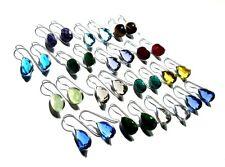 Delightful Prehnite & Multi Gemstone Quartz 925 Silver Plated 15 Pcs Earring Set