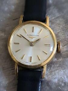 Stunning Ladies Vintage 18ct Solid Gold LONGINES Mechanical Hand Wind Wristwatch