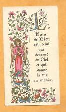 GRANDE  IMAGE PIEUSE HOLY CARD  COMMUNION LE PAIN DE DIEU  ANGE