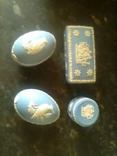 4 WEDGWOOD JASPERWARE TRINKET BOXES 1980 & 1984  EGGS