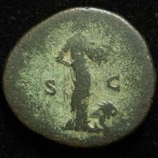 Septimius Severus AE sestertius, rev. Africa & lion, Rome 194AD - RIC 668 - RARE