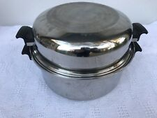 ROYAL QUEEN 3-PLY STAINLESS STEEL DUAL HANDLE 6 QT COOKWARE POT WITH DOME LID
