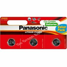 3 X Panasonic Cr2032 3v de litio moneda batería de 2032