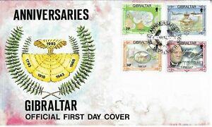 Gibraltar 1993 Anniversaries FDC