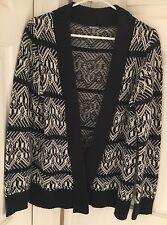 Charlotte Russe Cardigan Sweater Juniors Womens Navy White Size Medium