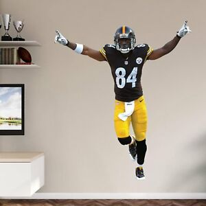 """Antonio Brown FATHEAD Steelers """"VICTORY POSE"""" RETIRED REAL BIG LIFESIZE ONLY"""