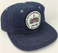 VTG All Denim Pocahontas Coalfield Centennial Mine Patch Trucker Hat Cap 80s NOS