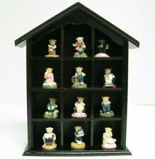 New 12 Tiny Resin Bears In A Shadow Box Set Teddy Bears Collection
