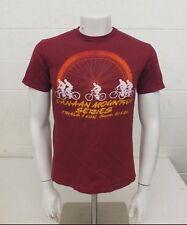 Vintage 1980s Canaan Mountain Bike Series Red 100% Cotton T-Shirt Men's Medium