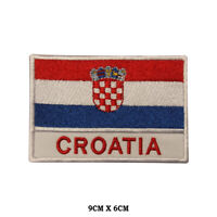 CROATIA National Flag Embroidered Patch Iron on Sew On Badge For Clothes etc
