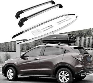 4Pcs Roof Rail Rack Cross Bars Crossbars Fit for Honda Vezel HRV HR-V 2016-2021