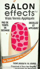 Sally Hansen Instant Salon Effects Nail Strips *CAN'T BE TAMED* Pink Leopard BN