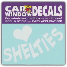 Car Window Decals: I Love Shelties | Shetland Sheepdog | Stickers Cars Trucks