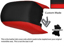 BLACK & RED CUSTOM FITS BMW R 1200 RT REAR PASSENGER REAL LEATHER SEAT COVER