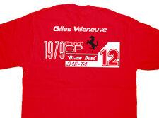 GILLES Villeneuve F1 GP T Shirt T-shirt DIJON DUELLO RENE ARNOUX classica di qualità
