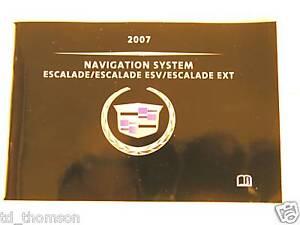 GM 2007 Escalade Navigation Manual #15810216C