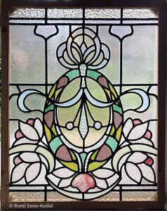Bleiverglasung / Glasbild / Fenster / Jugendstil / Stained Glass / Home decor