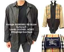 BURBERRY PRORSUM Men's VINTAGE Black LAMBS LEATHER Jacket SIZE EU 50 UK 40 #3306