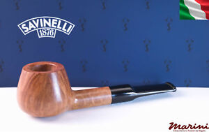 pipes pipe Savinelli 344 KS briar natural waxed wood made in Italy