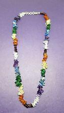 Gem Chip Chakra Necklace Reiki Charged Chakra,Beautiful, Balancing Handmade   fd
