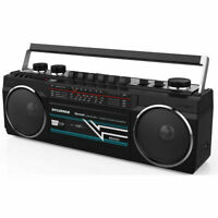 SYLVANIA Bluetooth Cassette Radio Boombox Portable Speaker