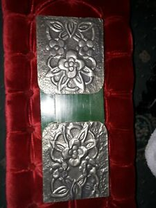 Arts And Crafts Style Pewter Book Slide , case