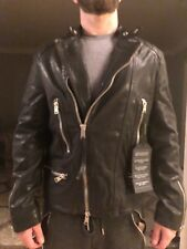 MENS SIZE XL ALL SAINTS REIMER LEATHER JACKET