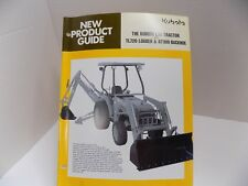 KUBOTA L35 TRACTOR  TL720 LOADER BT900 BACKHOE NEW PRODUCT GUIDE 28 pps OEM AUTH