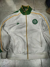 Used Nike Men's Celtic Soccer White Track Jacket size M