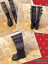 UGG Size 6US Channing Rain Snow Boots NAVY BLUE New
