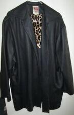 Ladies Wicked Size L Black Coat Jacket Drape Front Australian Made