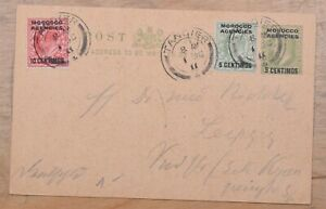 Morocco Agencies Tangier uprated Stationery Card 1911