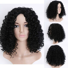 AU Natural Short Curly Towheaded Synthetic Wigs For Black Women Full Head Wigs C