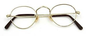 Vintage, ALGHA 20,1940s, Off-Round Gold Spectacles, Unused Old Stock, No lenses
