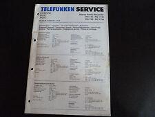 Schaltbild  Service Informationen Telefunken  RC 740/ RC1740  RC 750/RC 1750