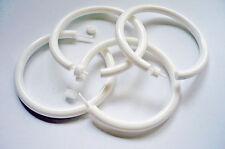 2 Paar Allergiker Ohrringe Creolen kpl. aus Kunststoff OhrHänger weiß NEU + TOP