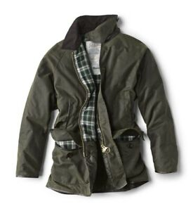 """BARBOUR BEAUCHAMP """"Orvis Limited Ed"""" WAX COTTON JACKET Med RETAIL $595 Olive NEW"""
