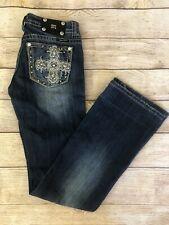 Women's Miss Me Boot Cut Jeans Dark Wash size 28 Low rise