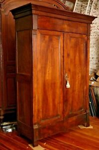 ELEGANT ANTIQUE French Louis Philippe Style Walnut ARMOIRE, 1860-1870