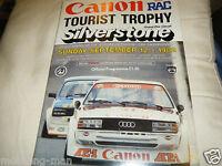 TOURIST TROPHY 1982 SILVERSTONE PROGRAMME JAGUAR XJS TOM WALKINSHAW BMW 528i