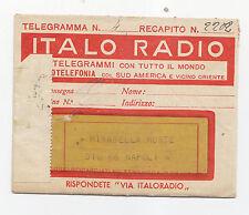 P969-TELEGRAMMA ITALO RADIO DA BUDAPEST A NAPOLI