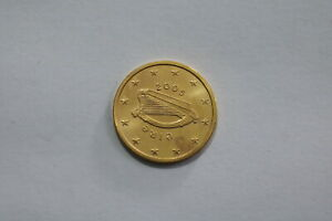 IRELAND 5 EURO CENTS 2005 GOLD PLATED B24 #K2964