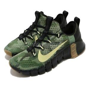 Nike Free Metcon 3 Black Green Camo Limelight Gum Men Training Shoes CJ0861-032